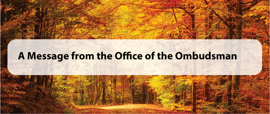 A Message from the Office of the Ombudsman